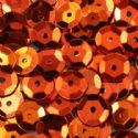 Sequins, Rust colour, Diameter 6mm, 810 pieces, 10g, Faceted Discs, Sequins are shiny, [CZP188]